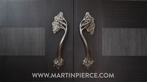 unique door handles  steel  place  art nouveau
