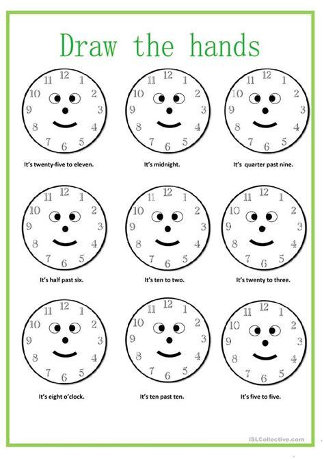 time   worksheet  esl printable worksheets