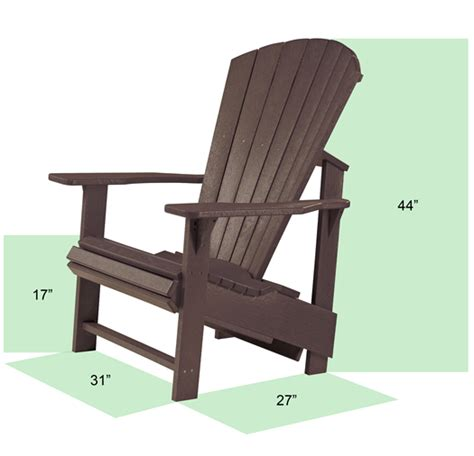 Generations Upright Adirondack Chair by Generation Line Upright Adirondack Muskoka Chair C03