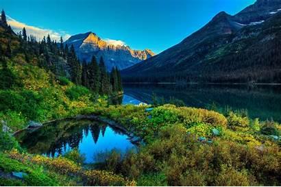 Mountain River Nature Landscape Desktop Backgrounds Wallpapers