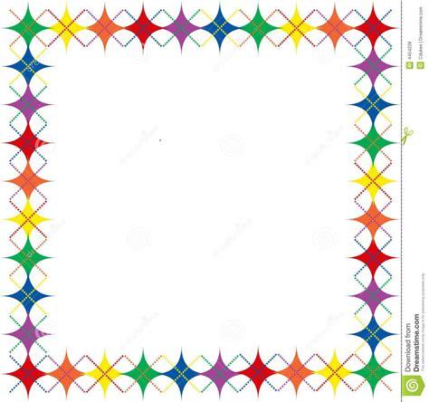 rainbow argyle stars border stock illustration