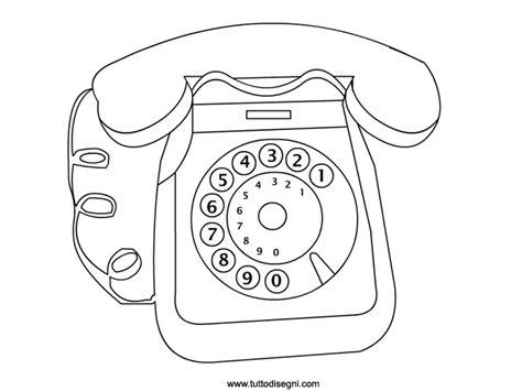 telefono da colorare telefono disegno da colorare tuttodisegni