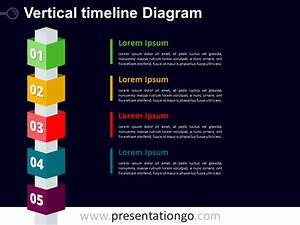 Vertical Timeline Powerpoint With Cubes