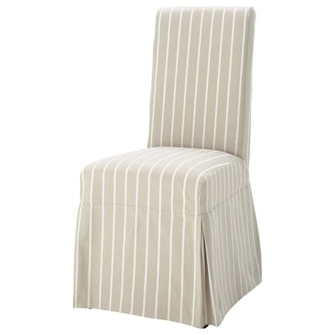 housse chaise maison du monde housse longue de chaise à rayures en coton beige margaux