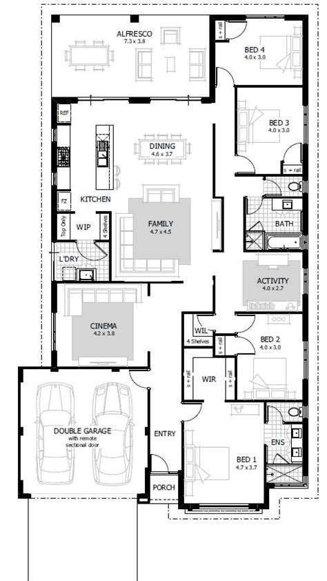 2 house plans with 4 bedrooms 4 bedroom house plans home designs celebration homes