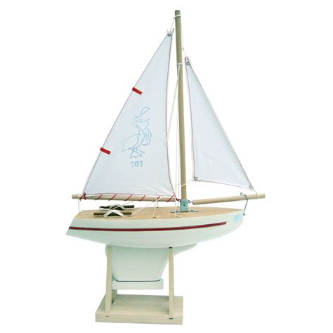 Sailing Boat Toy by Wooden Toy Boats Handmade In France French Blossom