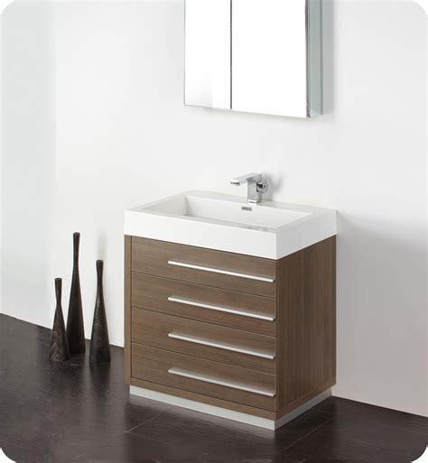 "Fresca Livello 30"" Gray Oak Modern Bathroom Vanity with"