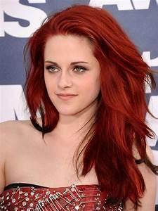 Kristen Stewart Violet Red Hair Color