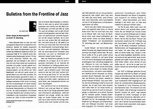 BULLETINS FROM THE FRONTLINE OF JAZZ The Music Of Gunter