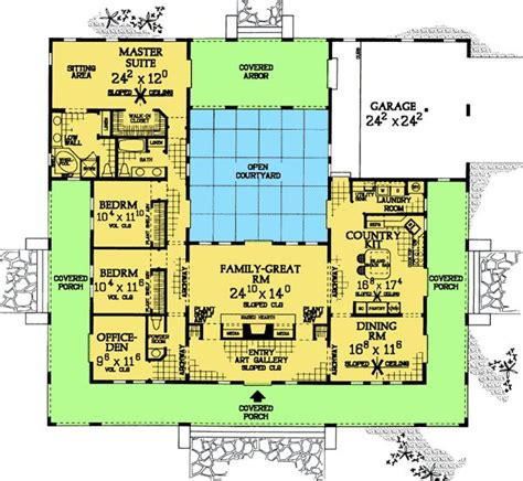 courtyard house plans house plans u shaped with courtyards all architectural