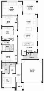 Planos de casas de una planta 4 dormitorios 2 baños