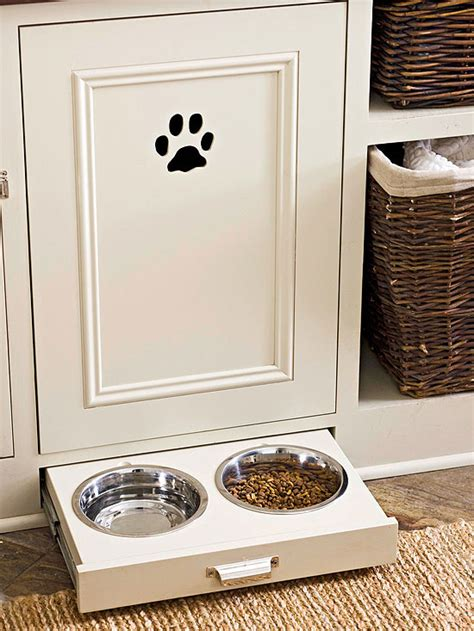 Pet Food Cabinet With Bowls by Pet Food Storage Cabinet Traditional Kitchen Bhg