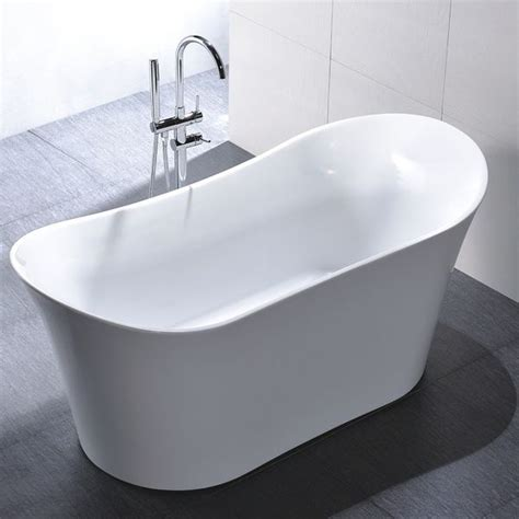 Slipper Tubs For Sale by Freestanding 67 Inch Slipper Style White Acrylic Bathtub