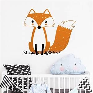 Aliexpress, Com, Buy, Cute, Multicolor, Woodland, Fox, Wall, Stickers, Nursery, Decor, Cute, Fox, Wall