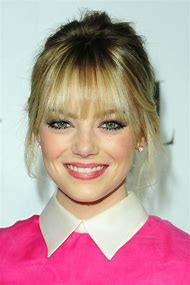 Emma Stone Blonde Bangs