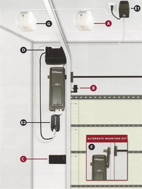 wall mount garage door opener garage door opener repair