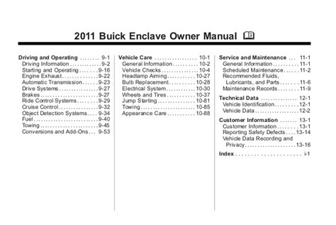 2011 buick enclave toledo owners manual 2011 buick enclave toledo owners manual