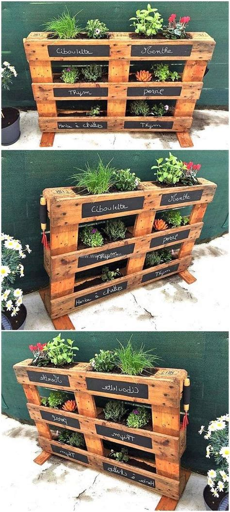 amazing creative wood pallet garden project ideas