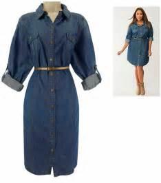 Plus Size Denim Shirt Dresses