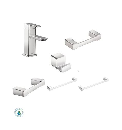 moen 90 degree faucet and accessory bundle 3ch chrome with