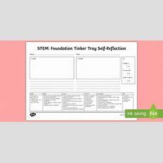 * New * Tinker Table Foundation Selfreflection Writing Frames