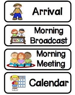 preschool schedule cards kindergarten at play quot simple amp daily schedule 882