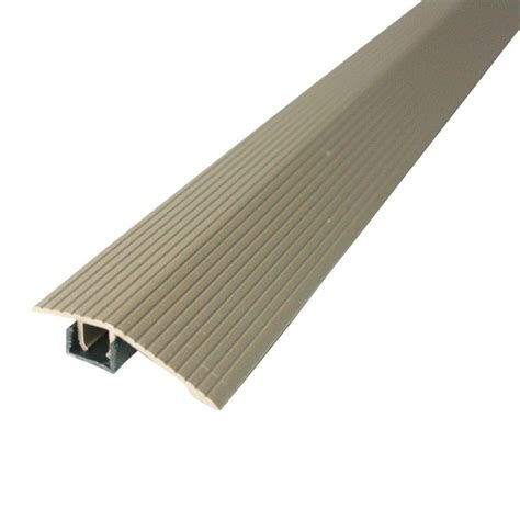 floor strips m d building products cinch 1 8125 in x 36 in spice fluted reducer transition strip for uneven