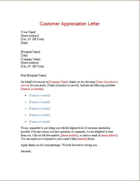 appreciationthank  letters word excel templates