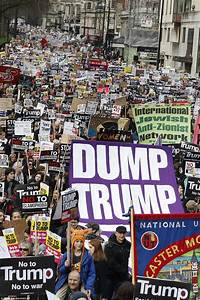 Thousands protest Donald Trump's travel ban in London ...