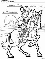 Coloring Pages Cowboy Cowboys Vbs Cow Children Preschool Western Programming Uploaded User sketch template