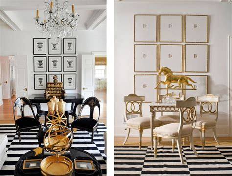 featured home black white  gold themed decor