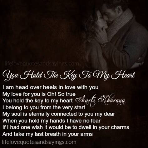Hold The Key To My Heart Quotes