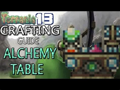 Terraria Table Chair Crafting by Terraria Crafting Guide Alchemy Table More Potions