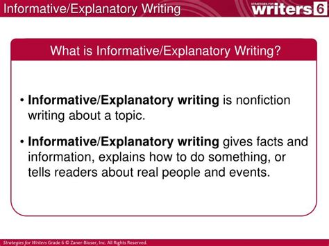 writing an informative essay ppt ppt informative explanatory writing powerpoint presentation id 2176123