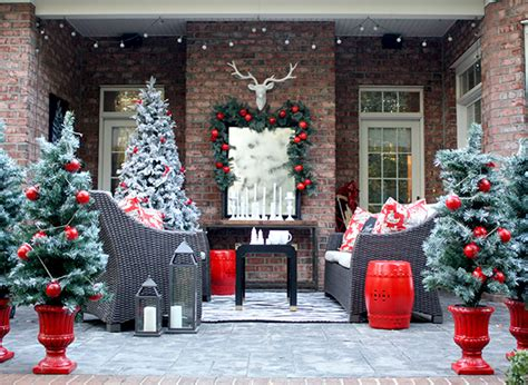 christmas patio decorating decorating ideas for a cozy winter patio