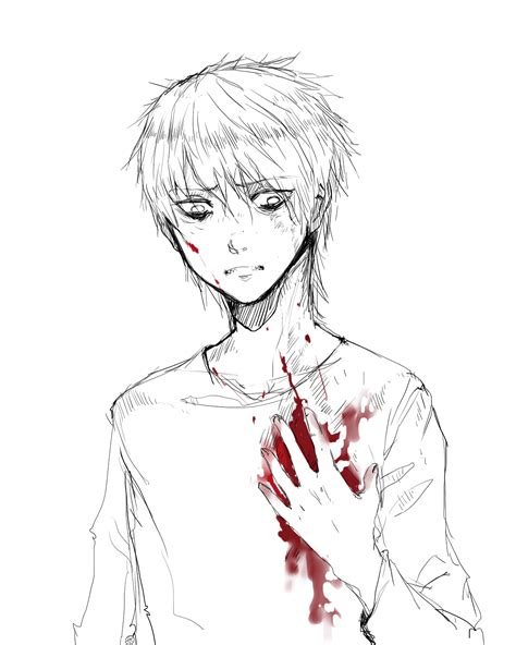 bloody anime boy guro horror and fantastical