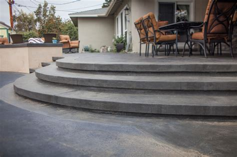 sted concrete steps transitional patio orange