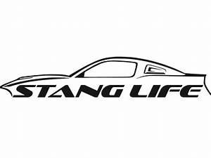 stang life sticker s197 mustang decal black stang life inc With mustang lettering