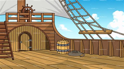 Boat Deck Clipart by Pirate Ship Deck Background Clipart Friendlystock