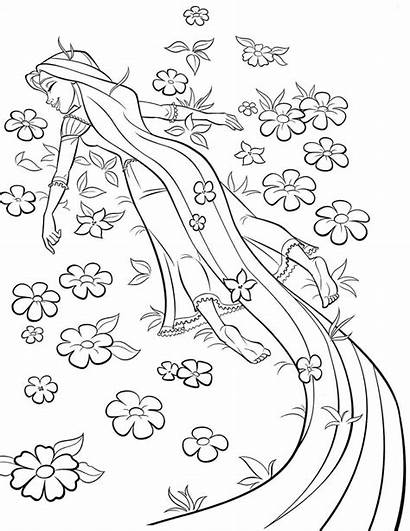 Rapunzel Coloring Pages Tangled Disney Colouring Printable