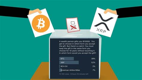 Sell bitcoin using an exchange. PRESS RELEASE: Poll: 52% of Responders Would Take XRP as a Gift Rather Than Bitcoin - Australian ...