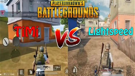 Lite Vs Light by Pubg Mobile Timi Vs Light Speed Gameplay Comparison