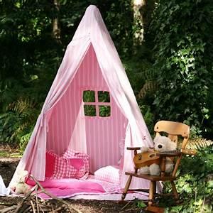 Tipi Enfant Rose : tente tipi indien cabane pour enfants ray rose et blanc wingreen ~ Teatrodelosmanantiales.com Idées de Décoration