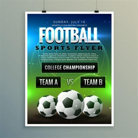 Sport Flyer Vorlagen kostenloser Download