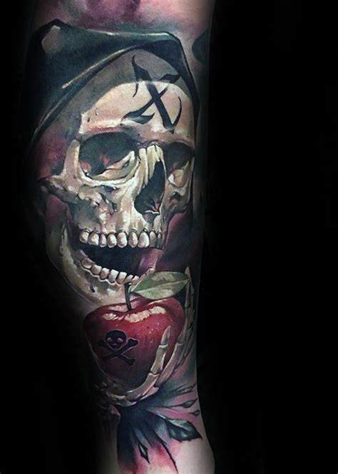 apple tattoo designs  men bite  ink ideas