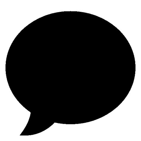 Very Basic Speech Bubble Filled Icon Ios Iconset Icons