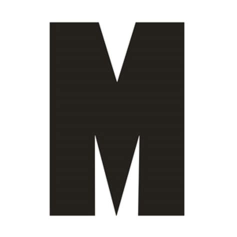 big letter m solid capital m 20607 | printable alphabet big letters captial M