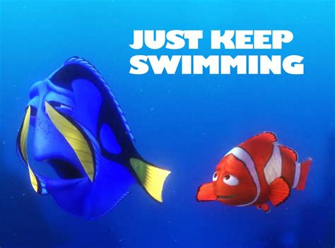 swimming  finding nemo motivational posters