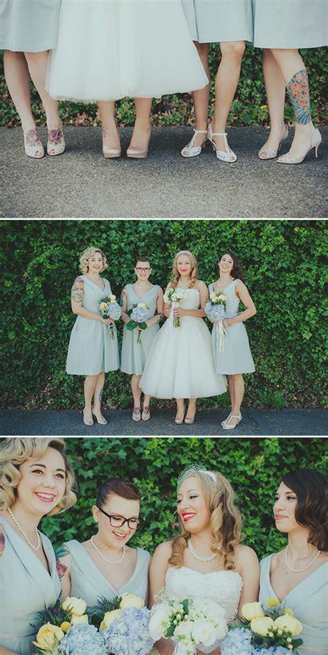 retro garden party wedding