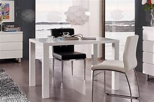 table de salle a manger design laquee blanche destiny With salle a manger simple